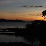 Sonnenuntergang kurz vor der Überfahrt nach Ko Chang
