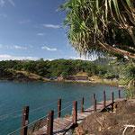 die Bucht an der unsere Hütte ist