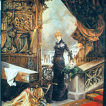 """Sarah Bernhardt"" nach Hans Makart (260x350cm) Stofffarbe auf Leinwand"