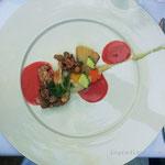 warme Vorspeise/ Kalbsbries an Preiselbeeren Sauce