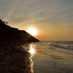 Sonenuntergang über dem Strand von Nienhagen