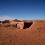 Verlassene Lehmhütten im Draa Tal