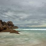 An der Grand Anse von La Digue, Seychellen