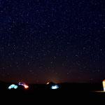 Unser Nachtlager unter dem Sternenmeer