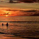 Sunset by Beau Vallon