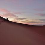 Abendliche Wanderung in den Dünen