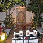 """Unser tolles Hotel inmitten der Medina von Marrakesch, das """" Riad Carmela"""". Man fühlte sich wie in 1000 und 1er Nacht."""