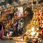 Auf dem Markt von Kathmandu