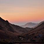 Abendlicht im Atlasgebirge.