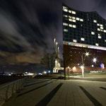 Die Elbphilharmonie am Abend