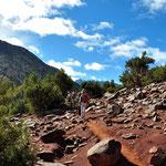 Auf demWeg zum 2200m hohen Tizi Oudite ( Bergpass).