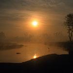 Am frühen Morgen bei einer Birdwatching Wanderung