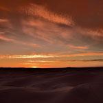 Wolkenglühen in der Wüste