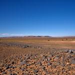 Auf der Rückfahrt durch die Steinwüste
