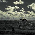 Blick von der Anse Lazio auf Praslin