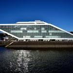 Moderne Architektur in den Docklands von Hamburg