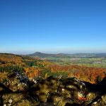 Blick vom Schafstein zur Milseburg