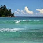"""Surfer an der """" Baie Lazare """""""