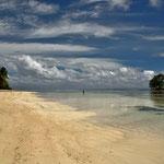 Ein Einsamer Strand auf dem Gelände der l´Union Estate, La Digue , Seychellen
