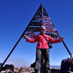 """Auf dem Gipfel des"""" Jebel Toubkal """" 4167 m, höchster Gipfel Nordafrikas."""