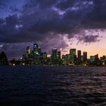 Sydney-Skyline am Abend