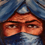 Gemälde eines Tuareg