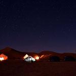 Abendlichter in der Sahara