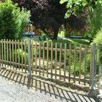 Vue - Fabrication portillon métal et clôture en châtaignier