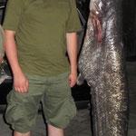 Waller 168 cm, 76 Pfund Weiher 4 August