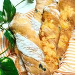 トマトとオリーブのねじりパン