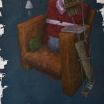 La sieste de l'art contemporain. 60/73 cm