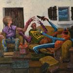 Autocensure. Acrylique sur toile. 54/46 cm.