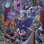 Retour de Cabourg.Acrylique sur toile.  92/65