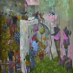 Frontières. Acrylique sur toile. 92/73