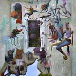 Manipulations. Acrylique sur toile.73/92