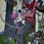 Naissance d'une princesse.Acrylique sur toile.   92/65