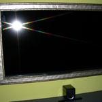 ein Fernseher wurde ein gerahmt