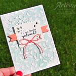Zarte Karte mit Stampin´ Up! Papier