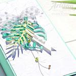 Minikarten mit Tropenflair
