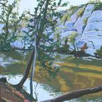Le lac bleu, Erquy