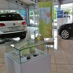 VW Schauraum mit Saisonalem Präsentationssystem