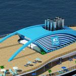 Schornstein der Leonardo-Klasse // © Norwegian Cruise Line