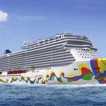 Norwegian Encore mit Außenbemalung // © Norwegian Cruise Line