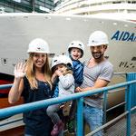 Familie Mirza aus Hessen // © AIDA Cruises