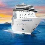 Norwegian Encore ohne Außenbemalung // © Norwegian Cruise Line