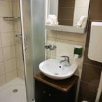 Badezimmer einer Hauptdeckkabine auf der MS Dalmatia