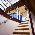 Die Treppe zum Sonnendeck der MS Dalmatia