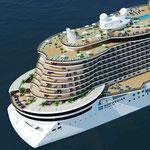 Heck der Leonardo-Klasse // © Norwegian Cruise Line