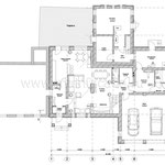 """Коттедж в стиле """"Арт-деко"""", план первого этажа"""