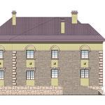 Задний фасад. Проект